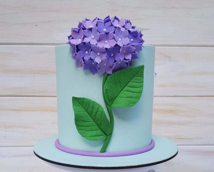 Torta de Hortensias